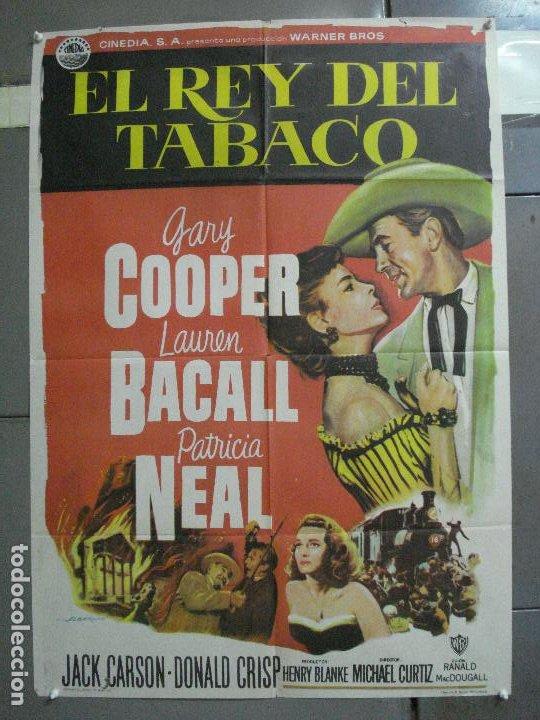 CDO 2759 EL REY DEL TABACO GARY COOPER LAUREN BACALL PATRICIA NEAL ALBERICIO POSTER ORIG ESTRENO (Cine - Posters y Carteles - Westerns)