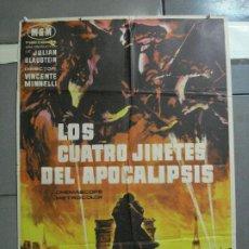 Cine: CDO 2761 LOS CUATRO JINETES DEL APOCALIPSIS GLENN FORD POSTER ORIGINAL 70X100 ESTRENO. Lote 205802345