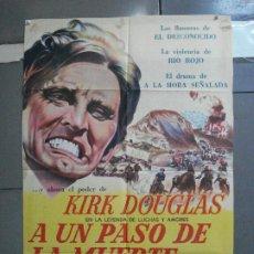 Cine: CDO 2766 PACTO DE HONOR KIRK DOUGLAS WALTER MATTHAU INDIOS POSTER ORIG ARGENTINO 75X110 LITOGRAFIA. Lote 205803343