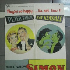 Cine: CDO 2770 SIMON AND LAURA PETER FINCH KAY KENDALL POSTER ORIGINAL INGLES 70X100 LITOGRAFIA. Lote 205803901