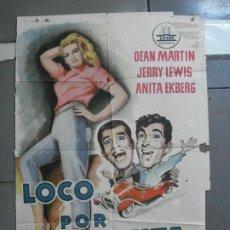 Cine: AAJ72 LOCO POR ANITA DEAN MARTIN JERRY LEWIS ANITA EKBERG POSTER ORIGINAL 70X100 ESTRENO. Lote 205805506