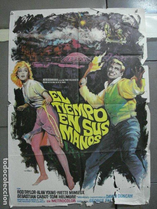 AAJ80 EL TIEMPO EN SUS MANOS ROD TAYLOR GEORGE PAL MAC POSTER ORIGINAL 70X100 ESTRENO (Cine - Posters y Carteles - Ciencia Ficción)