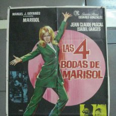 Cine: AAJ89 LAS 4 BODAS DE MARISOL JANO POSTER ORIGINAL 70X100 ESTRENO. Lote 205810431