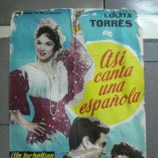 Cine: AAJ93 ASI CANTA UNA ESPAÑOLA LOLITA TORRES POSTER ORIGINAL ESTRENO 70X100. Lote 205812293