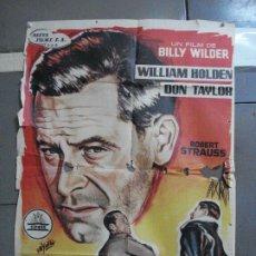 Cine: CDO 2773 TRAIDOR EN EL INFIERNO WILLIAM HOLDEN BILLY WILDER YAÑEZ POSTER ORIGINAL 70X100 ESTRENO. Lote 205819407