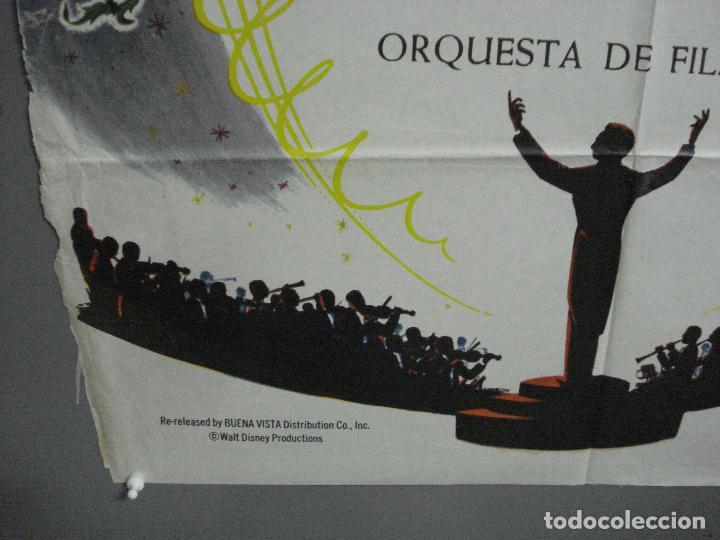 Cine: CDO 2775 FANTASIA WALT DISNEY MICKEY MOUSE STOKOWSKI POSTER ORIGINAL 70X100 ESPAÑOL R-68 - Foto 5 - 205819866