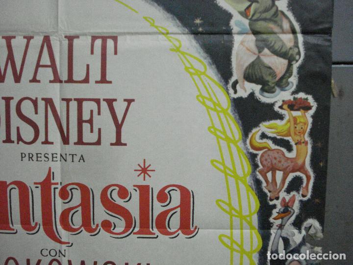 Cine: CDO 2775 FANTASIA WALT DISNEY MICKEY MOUSE STOKOWSKI POSTER ORIGINAL 70X100 ESPAÑOL R-68 - Foto 7 - 205819866