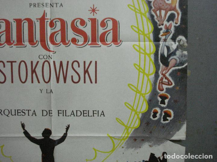 Cine: CDO 2775 FANTASIA WALT DISNEY MICKEY MOUSE STOKOWSKI POSTER ORIGINAL 70X100 ESPAÑOL R-68 - Foto 8 - 205819866