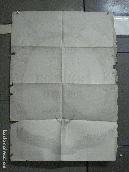 Cine: CDO 2775 FANTASIA WALT DISNEY MICKEY MOUSE STOKOWSKI POSTER ORIGINAL 70X100 ESPAÑOL R-68 - Foto 10 - 205819866