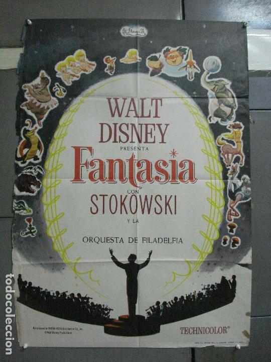CDO 2775 FANTASIA WALT DISNEY MICKEY MOUSE STOKOWSKI POSTER ORIGINAL 70X100 ESPAÑOL R-68 (Cine - Posters y Carteles - Infantil)
