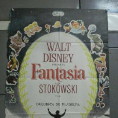 Cine: CDO 2775 FANTASIA WALT DISNEY MICKEY MOUSE STOKOWSKI POSTER ORIGINAL 70X100 ESPAÑOL R-68. Lote 205819866