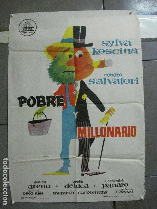 CDO 2781 POBRE Y MILLONARIO SYLVA KOSCINA JANO CIFESA POSTER ORIGINAL 70X100 ESTRENO (Cine - Posters y Carteles - Comedia)