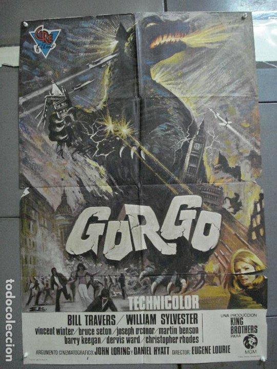 CDO 2788 GORGO BILL TRAVERS EUGENE LORIE POSTER ORIGINAL ESTRENO 70X100 (Cine - Posters y Carteles - Ciencia Ficción)