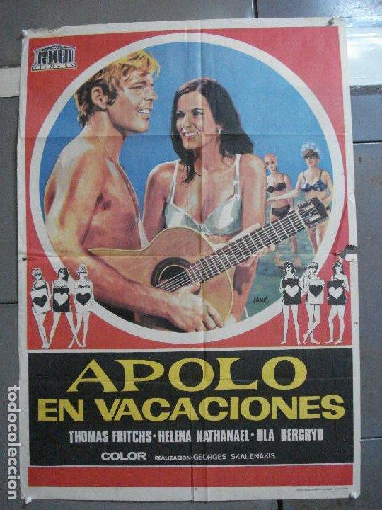CDO 2792 APOLO EN VACACIONES CINE GRIEGO POSTER ORIGINAL 70X100 ESTRENO (Cine - Posters y Carteles - Comedia)