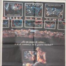 Cine: JUEGOS DE GUERRA (1983). PÓSTER 100 X 70 CTMS.. Lote 205840100