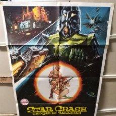Cine: STAR CRASH CHOQUE DE GALAXIAS CAROLINE MUNRO POSTER ORIGINAL 70X100 Q. Lote 205898032
