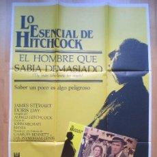 Cine: CARTEL + 12 FOTOCROMOS EL HOMBRE QUE SABIA DEMASIADO JAMES STEWART DORIS DAY 1984 CCF5. Lote 205900805