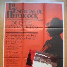 Cine: CARTEL + 9 FOTOCROMOS DE ENTRE LOS MUERTOS JAMES STEWART KIM NOVAK 1984 CCF6. Lote 205901305