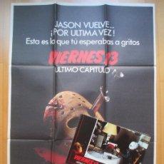 Cine: CARTEL + 12 FOTOCROMOS VIERNES 13 ULTIMO CAPITULO 1984 CCF7. Lote 205901752