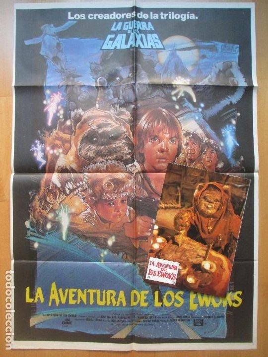 CARTEL + 12 FOTOCROMOS LA AVENTURA DE LOS EWOKS CCF12 (Cine - Posters y Carteles - Ciencia Ficción)
