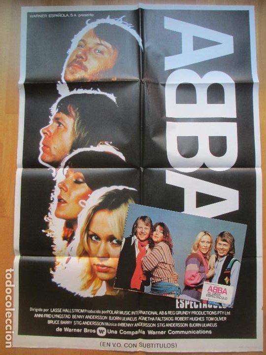 CARTEL + 6 FOTOCROMOS ABBA EL GRAN ESPECTACULO 1978 CCF15 (Cine - Posters y Carteles - Musicales)