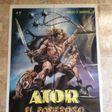 Cine: POSTER ORIGINAL ATOR EL PODEROSO. Lote 206325640
