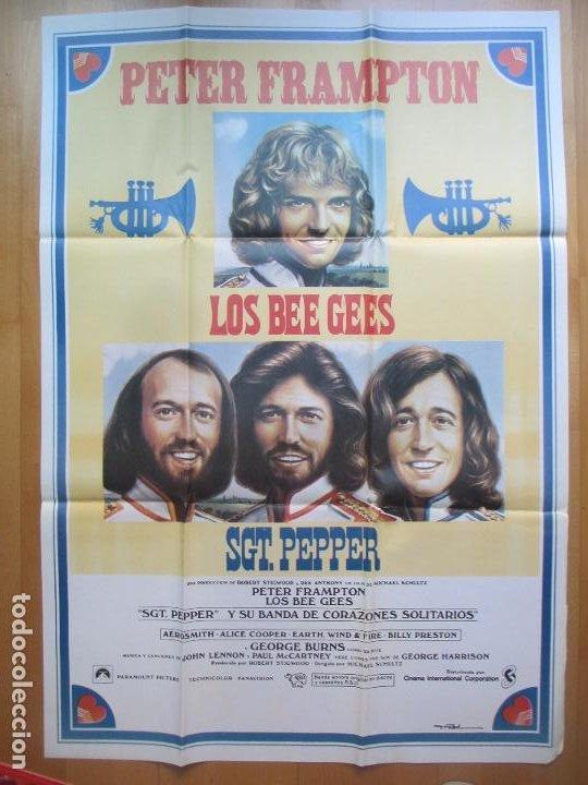 Cine: CARTEL + 12 FOTOCROMOS LOS THE BEE GEES PETER FRAMPTON MAC CCF21 - Foto 2 - 206332286