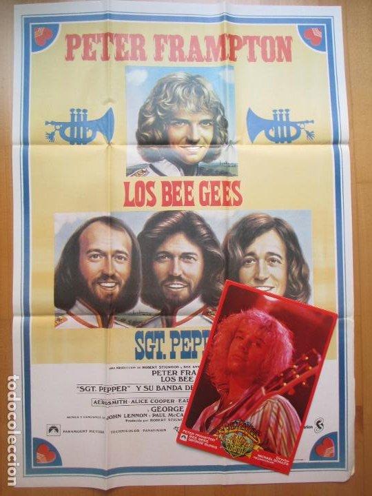 CARTEL + 12 FOTOCROMOS LOS THE BEE GEES PETER FRAMPTON MAC CCF21 (Cine - Posters y Carteles - Musicales)
