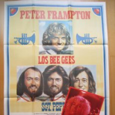 Cine: CARTEL + 12 FOTOCROMOS LOS THE BEE GEES PETER FRAMPTON MAC CCF21. Lote 206332286