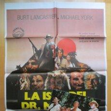 Cine: CARTEL + 12 FOTOCROMOS LA ISLA DEL DR. MOREAU BURT LANCASTER MICHAEL YORK 1977 CCF25. Lote 206334691