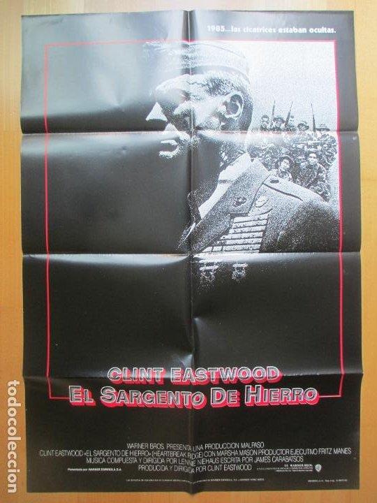 Cine: CARTEL + 12 FOTOCROMOS EL SARGENTO DE HIERRO CLINT EASTWOOD 1987 CCF26 - Foto 2 - 206334988