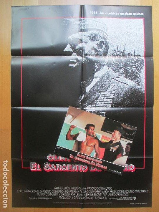 CARTEL + 12 FOTOCROMOS EL SARGENTO DE HIERRO CLINT EASTWOOD 1987 CCF26 (Cine - Posters y Carteles - Bélicas)