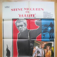 Cine: CARTEL + 12 FOTOCROMOS BULLITT STEVE MCQUEEN 1978 CCF29. Lote 206335815