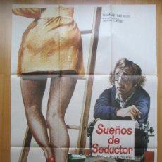 Cine: CARTEL + 12 FOTOCROMOS SUEÑOS DE SEDUCTOR WOODY ALLEN DIANE KEATON MAC 1972 CCF32. Lote 206338908