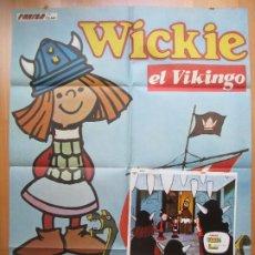 Cine: CARTEL + 12 FOTOCROMOS WICKIE EL VIKINGO VICKY 1976 CCF33. Lote 206339460