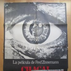 Cine: CARTEL + 12 FOTOCROMOS CHACAL FRED ZINNEMANN 1973 CCF35. Lote 206340340
