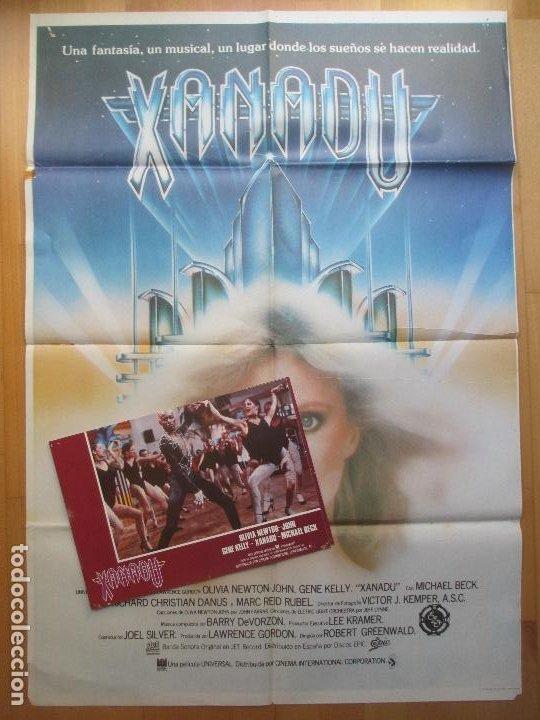 CARTEL + 12 FOTOCROMOS XANADU OLIVIA NEWTON-JOHN GENE KELLY 1980 CCF36 (Cine - Posters y Carteles - Musicales)