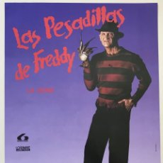 Cine: CARTEL POSTER DE CHICLE CHEIW JUNIOR - LAS PESADILLAS DE FREDDY - LA SERIE- PROMO CHICLES AÑOS 90/91. Lote 206371722