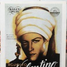 Cinema: LÁMINA CARTEL DE CINE EL HIJO DEL CAID RODOLFO VALENTINO 1926. Lote 206640613