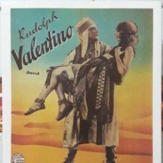 Cinema: LAMINA CARTEL DE CINE L'AMANT ETERNEL RUDOLPH VALENTINO 1926. Lote 206670450