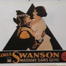 Cinéma: LAMINA CARTEL DE CINE GLORIA SWANSON MADAME SANS GENE 1925. Lote 206749640