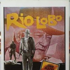 Cine: LAMINA CARTEL DE CINE RÍO LOBO JOHN WAYNE 1970. Lote 206754017
