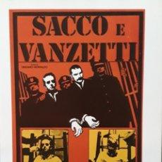 Cine: LAMINA CARTEL DE CINE SACCO Y VANCETTI 1970. Lote 206788280