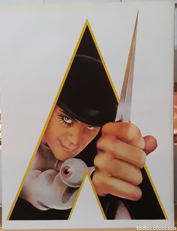 LAMINA CARTEL DE CINE LA NARANJA MECÁNICA 1971 (Cine - Posters y Carteles - Suspense)