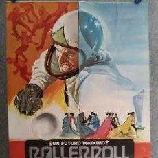 Cine: ROLLERBALL. JAMES CAAN, JOHN HOUSEMAN, RALPH RICHARDSON. AÑO 1980. POSTER ORIGINAL. Lote 206792991