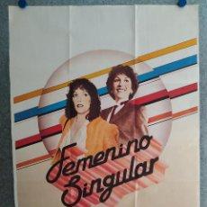 Cine: FEMENINO SINGULAR. CARMEN MAURA, EMILIO GUTIERREZ CABA, EMMA COHEN AÑO 1982 POSTER ORIGINAL. Lote 206794838