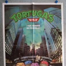 Cine: TORTUGAS NINJA. TUS HEROES DE PELICULA . POSTER ORIGINAL. Lote 206797062