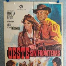 Cine: OESTE SIN FRONTERAS. JEFFREY HUNTER, PASCALE PETIT. AÑO 1968. POSTER ORIGINAL. Lote 269099373