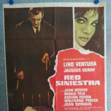 Cine: RED SINIESTRA. LINO VENTURA, JEAN BOUISE, MARILÙ TOLO. AÑO 1970. POSTER ORIGINAL. Lote 206908673