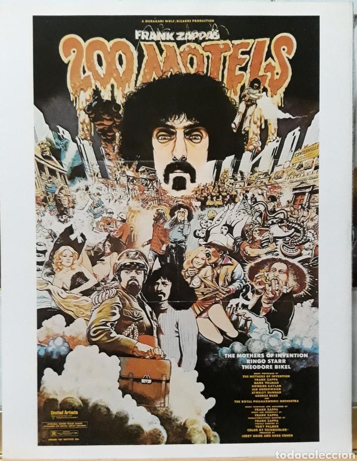 LAMINA CARTEL DE CINE 200 MOTELS FRANK ZAPPAS 1971 (Cine - Posters y Carteles - Suspense)